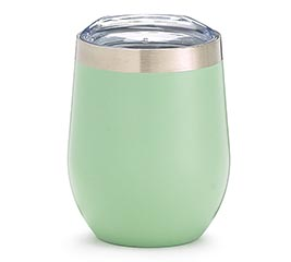 GREEN STAINLESS STEEL WINE TUMBLER