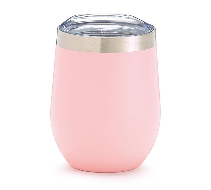 PINK STAINLESS STEEL WINE TUMBLER