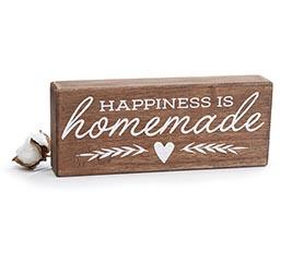 HAPPINESS IS HOMEMADE SHELF SITTER