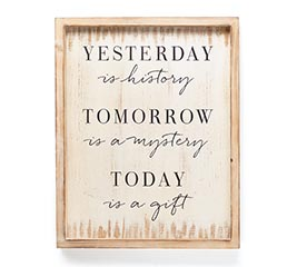 "MESSAGE WALL HANGING ""YESTERDAY"""