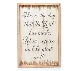RELIGIOUS MESSAGE WALL HANGING WOOD