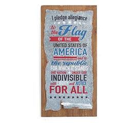 PLEDGE OF ALLEGIANCE WALL HANGING