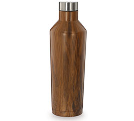 FAUX WOOD GRAIN STAINLESS WATER BOTTLE
