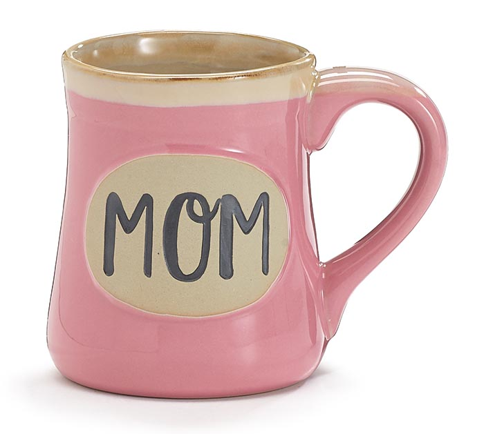 MOM MIRACLE WORKER JOB TITLE PINK MUG
