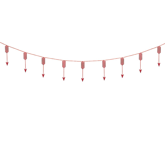 DISTRESSED RED ARROW GARLAND