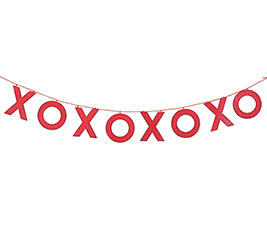 X O CORRUGATED TIN GARLAND