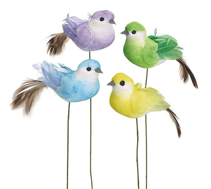BRIGHT ASSORTMENT OF FOAM PICK BIRDS
