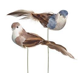 BLUE  GRAY ASSORTMENT OF FOAM PICK BIRD