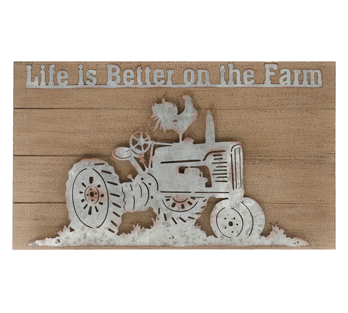 LIFE IS BETTER ON THE FARM WALL HANGING