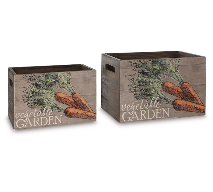 VEGETABLE GARDEN CARROT NESTED PLANTERS