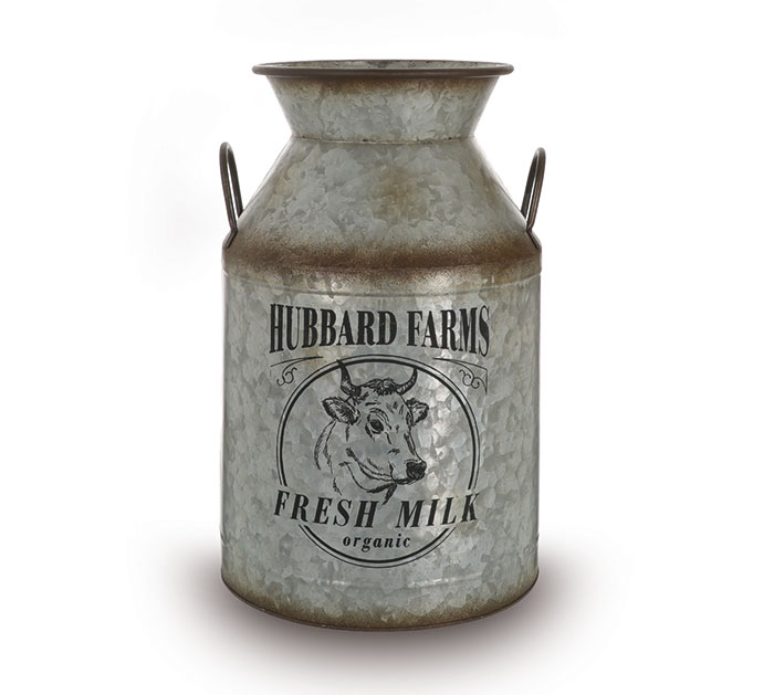 HUBBARD FARMS FRESH MILK TIN JUG
