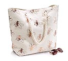 BEE CANVAS BAG CREAM AND GOLD
