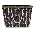 CACTUS CANVAS BAG NAVY AND GOLD
