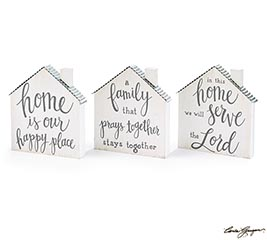 RELIGIOUS MESSAGE HOUSE SHELF SITTER AST