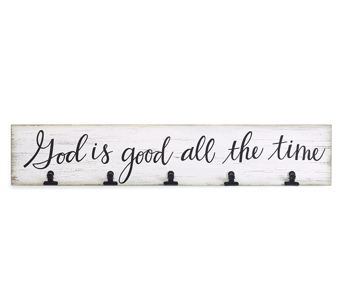 GOD IS GOOD ALL THE TIME CLIP WALL DECOR