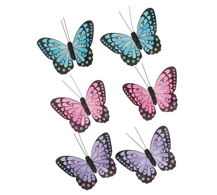ASTD COLOR BUTTERFLY PICKS ON SPRINGS
