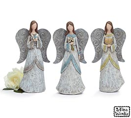 RESIN ASSORTED DISTRESSED ANGELS