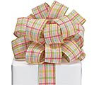 #9 SPRING PLAID RIBBON