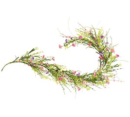 "60"" COLORFUL DAISY GARLAND WITH GREENERY"