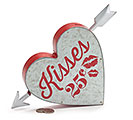 HEART SHAPE BANK WITH KISSES