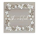 THANKFUL WALL HANGING WITH COTTON BORDER