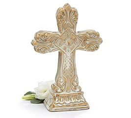 CREAM COLOR PORCELAIN CROSS