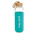 "GLASS WATER BOTTLE ""GOOD VIBES"""
