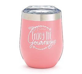 ENJOY THE JOURNEY STEMLESS WINE TUMBLER