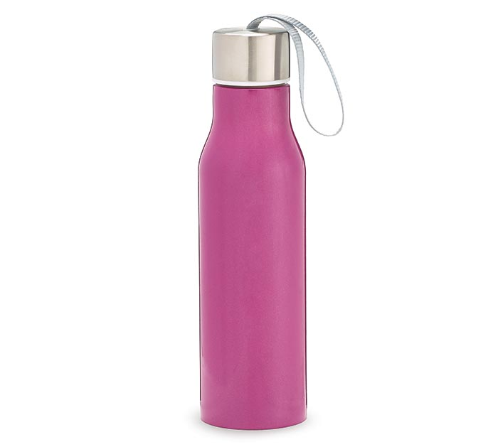 RASPBERRY STAINLESS STEEL WATER BOTTLE