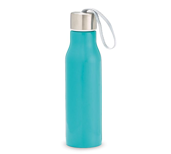 TURQUOISE STAINLESS STEEL WATER BOTTLE