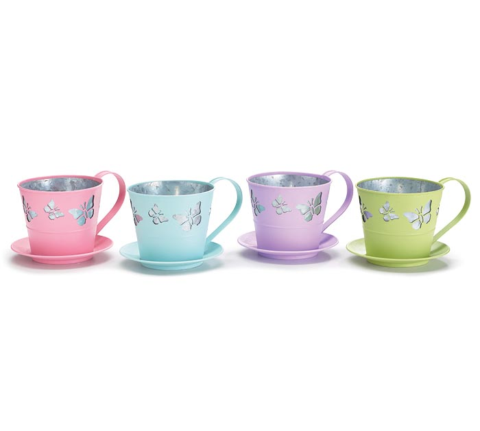 BUTTERFLY TEACUP PLANTER ASSORTMENT