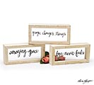 RELIGIOUS MESSAGE DECOR ASSORTMENT
