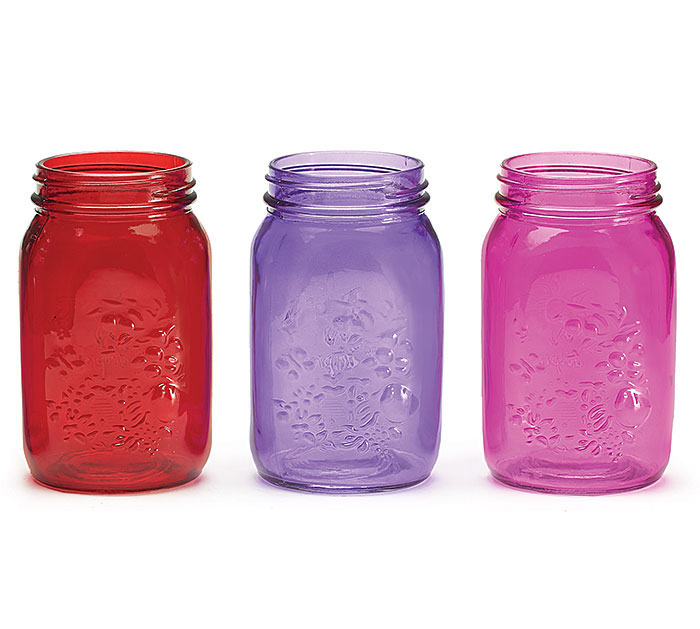 VALENTINE COLORS QUART SIZE MASON JAR