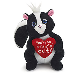 "8"" VALENTINE SKUNK PLUSH"