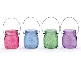HALF PINT MASON JAR VASE SPRING COLORS