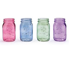 PINT MASON JAR SPRING COLORS