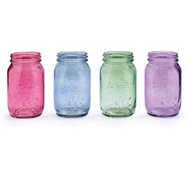 QUART SIZE MASON JAR IN SPRING COLORS