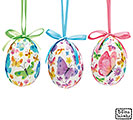 ORNAMENT EGG SHAPE WITH BUTTERFLIES ASTD