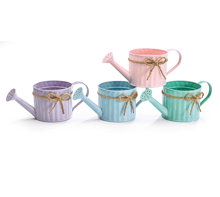 ASSORTED LIGHT SPRING WATERING CANS