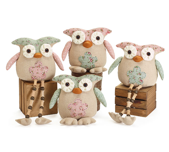 ASSORTED SHELF SITTING OWLS