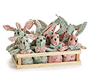 "5"" FLORAL PRINT BUNNY ORNAMENTS IN CRATE 1st Alternate Image"