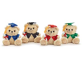 "6 1/2"" GRADUATION BEAR ASSORTED"