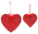RED GLITTER HEARTS ASTD SIZES