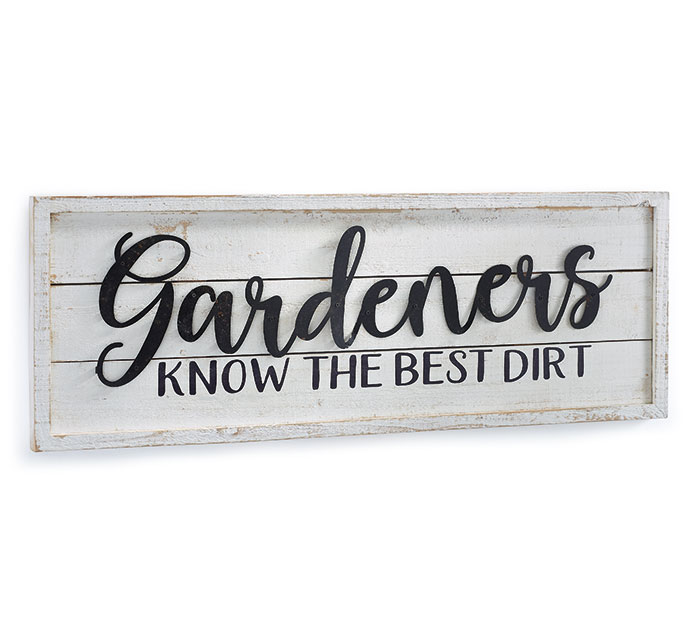 GARDENERS KNOW WOOD WALL HANGING