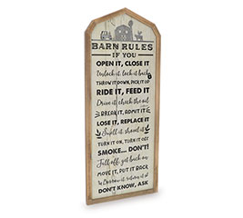 BARN RULES MESSAGE WALL HANGING