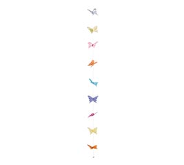 ASSORTED PASTEL BUTTERFLY GARLAND