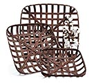 NESTED DARK STAINED TOBACCO BASKET