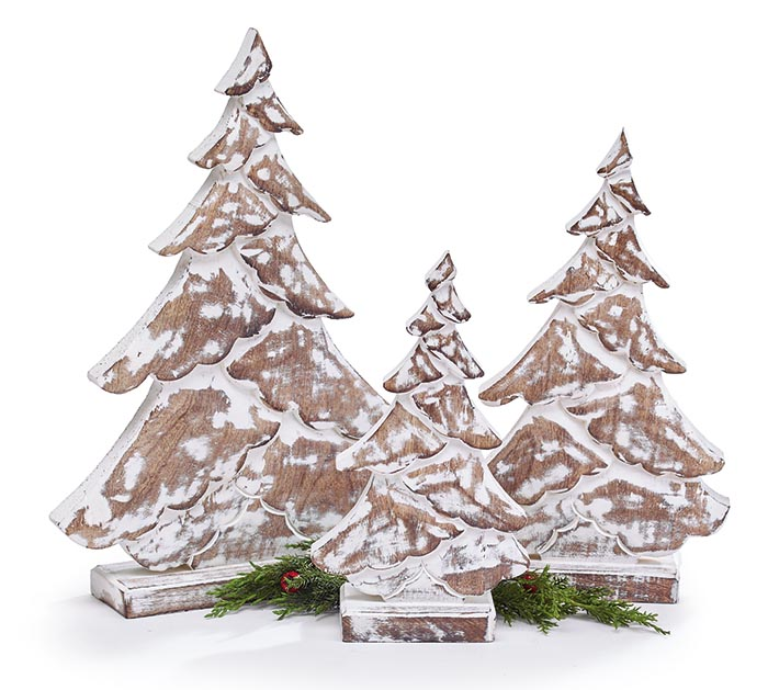 WHITEWASH CHRISTMAS TREE DECOR ASST