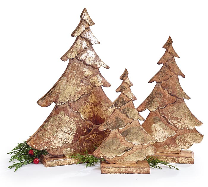 CHRISTMAS TREE DECOR WITH GOLD FINISH