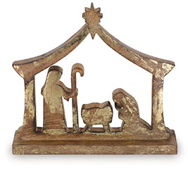 NATIVITY WITH HOLY FAMILY IN MANGER